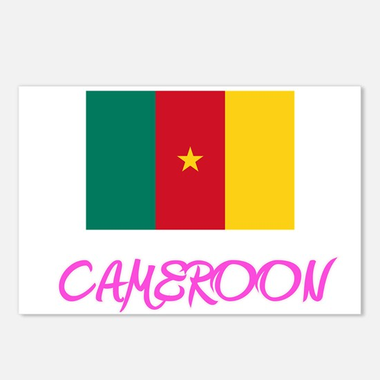 Cameroon Flag Artistic Pi Postcards (Package of 8)