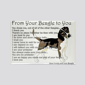 Beagle Rectangle Magnet (10 Pack) Magnets