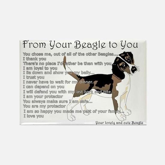 Beagle Rectangle Magnet (10 Pack) Magnets