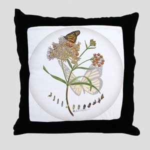 Monarch butterfly with Narrowleaf milkweed Throw P