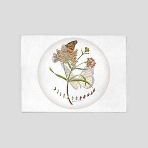 Monarch butterfly with Narrowleaf milkweed 5'x7'Ar