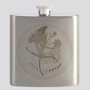 Monarch butterfly with Narrowleaf milkweed Flask