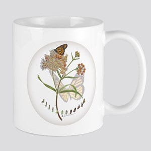 Monarch butterfly with Narrowleaf milkweed Mugs