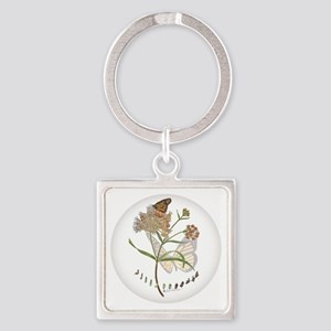 Monarch Butterfly With Narrowleaf Keychains
