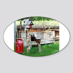 Country bird house & Milk can Sticker
