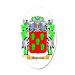 Higueras Oval Car Magnet