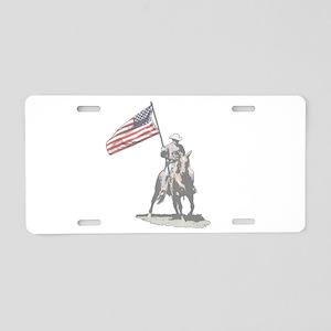 Mounted Patriot Aluminum License Plate