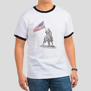 Mounted Patriot Ringer T