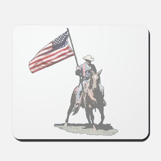 Mounted Patriot Mousepad