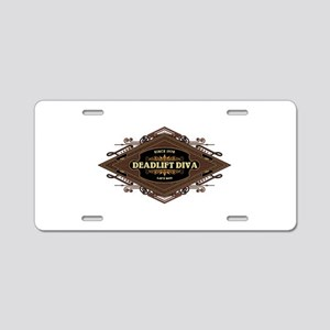 Deadlift Diva Aluminum License Plate