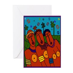 African Folkart Greeting Cards (Pk of 10)