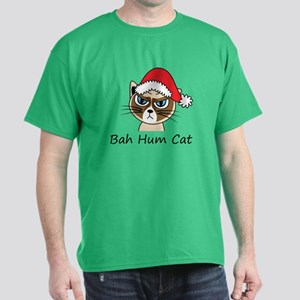 Bah Hum Cat Dark T-Shirt