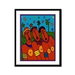African Folkart Framed Print