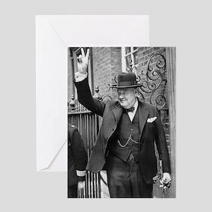 winston churchill Greeting Cards
