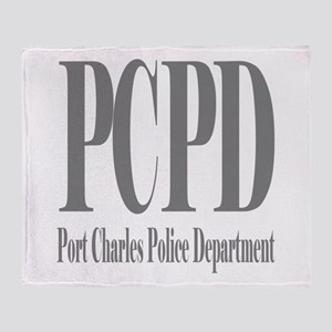 Port Charles Police Department Throw Blanket