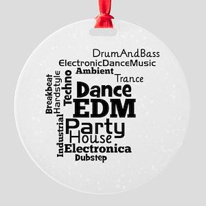 EDM Word Cloud Ornament