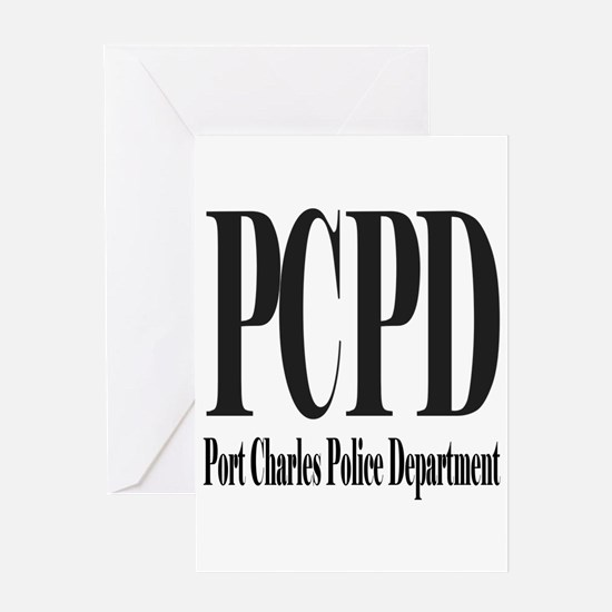 Port Charles Police Department Black Letters Greet