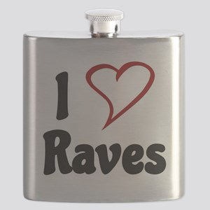 I Love Raves Flask