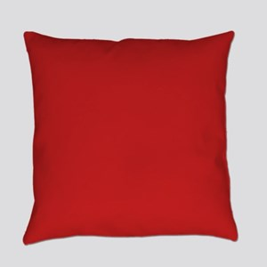 Solid Red Accent Color Pattern Everyday Pillow