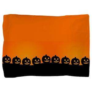 Spooky Halloween Pumpkins Pillow Sham