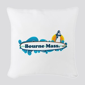 Bourne - Cape Cod. Woven Throw Pillow