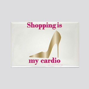 SATC Shopping Is My Cardio Rectangle Magnet