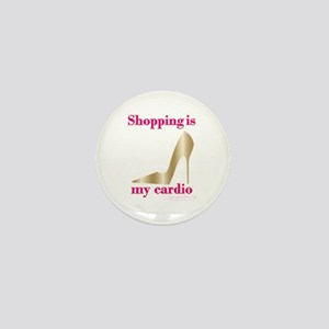 SATC Shopping Is My Cardio Mini Button