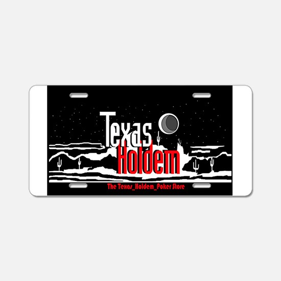 The Texas Holdem Poker Stor Aluminum License Plate
