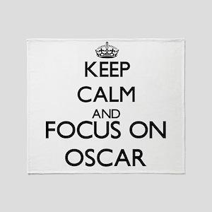 Keep Calm and Focus on Oscar Throw Blanket