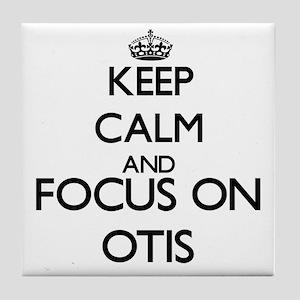Keep Calm and Focus on Otis Tile Coaster