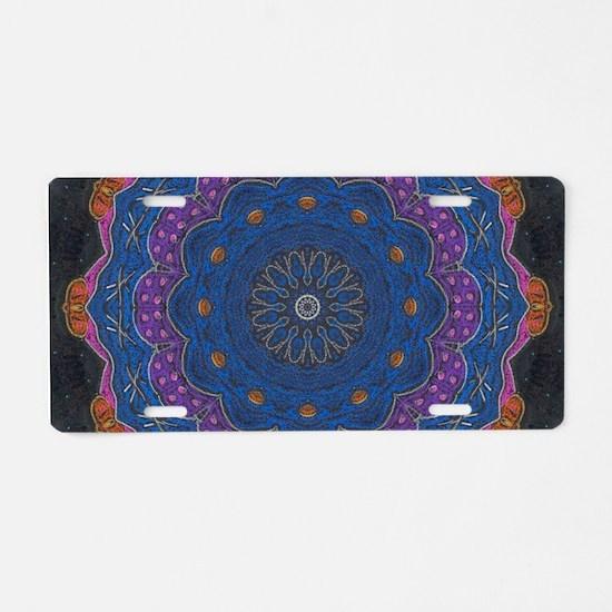 Alchemy Art Mandala Aluminum License Plate