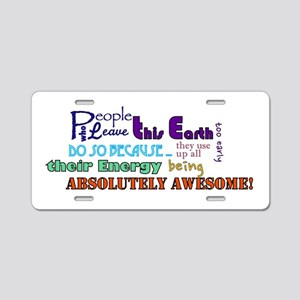 Awesome Words Aluminum License Plate
