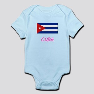 Cuba Flag Artistic Pink Design Body Suit