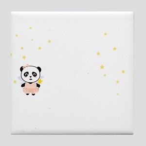 Cutest Kids Panda born in February Tile Coaster