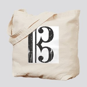 Distressed Alto Clef C-Clef Tote Bag