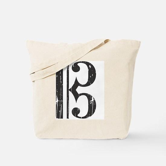 Distressed Alto Clef C-Clef Tote Bag