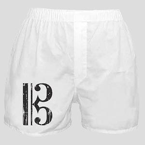 Distressed Alto Clef C-Clef Boxer Shorts