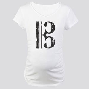 Distressed Alto Clef C-Clef Maternity T-Shirt