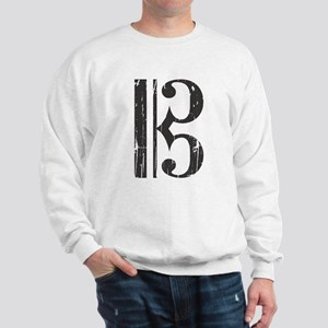 Distressed Alto Clef C-Clef Sweatshirt