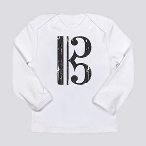 Distressed Alto Clef C-Clef Long Sleeve T-Shirt