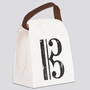 Distressed Alto Clef C-Clef Canvas Lunch Bag