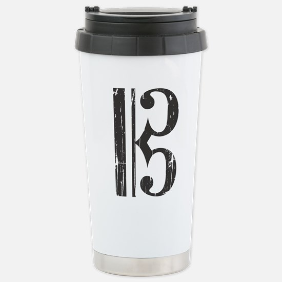 Distressed Alto Clef C- Stainless Steel Travel Mug