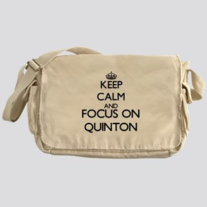 Keep Calm and Focus on Quinton Messenger Bag