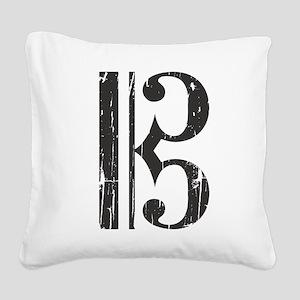 Distressed Alto Clef, C Clef Square Canvas Pillow