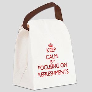 Keep Calm by focusing on Refreshm Canvas Lunch Bag