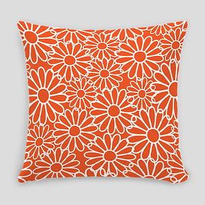 Daisy Flowered Orange Flowers Master Pillow