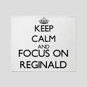 Keep Calm and Focus on Reginald Throw Blanket