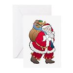Christmas Art Santa Claus Greeting Cards (6)