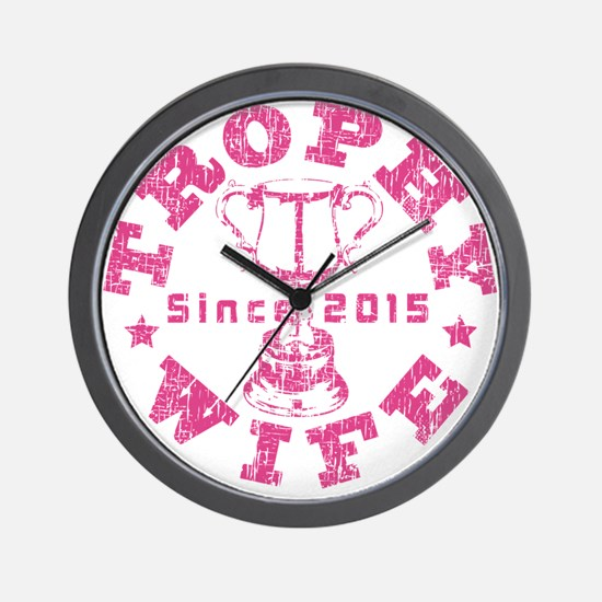 Trophy Wife since 2015 Pink Wall Clock