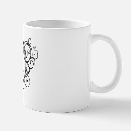 Silver Virgo Zodiac Sign Mug